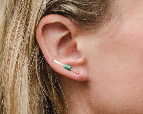 Turquoise Nugget Earring