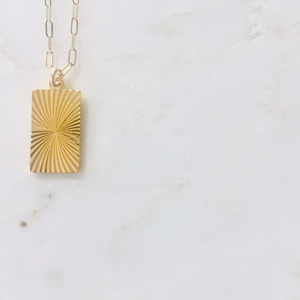 The Sunburst Medallion Necklace