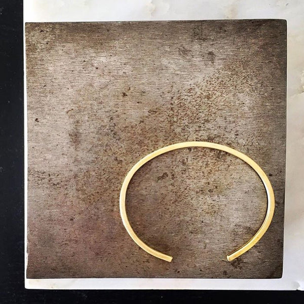 Brass Square Wire Cuff