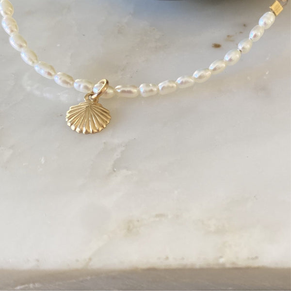 Tiny Rice Pearl Anklet