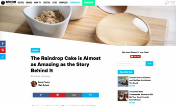 Spoon University: The Raindrop Cake is Almost as Amazing as the Story Behind It