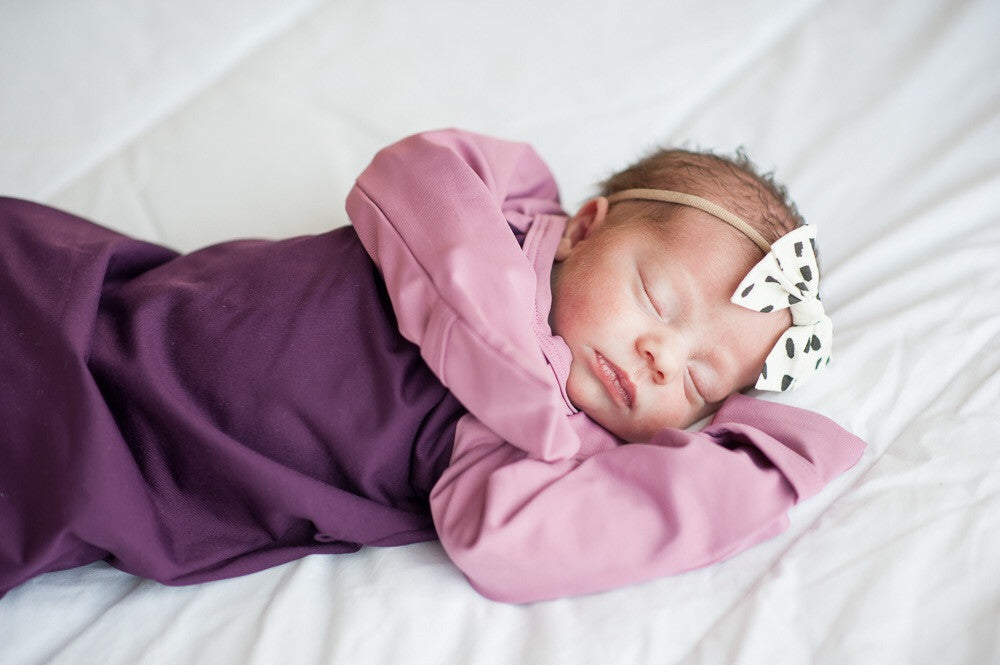 Baby Sleeper Gown, Newborn Essentials, Pocket Sleeper, Baby pajamas, Knotted Sleeper