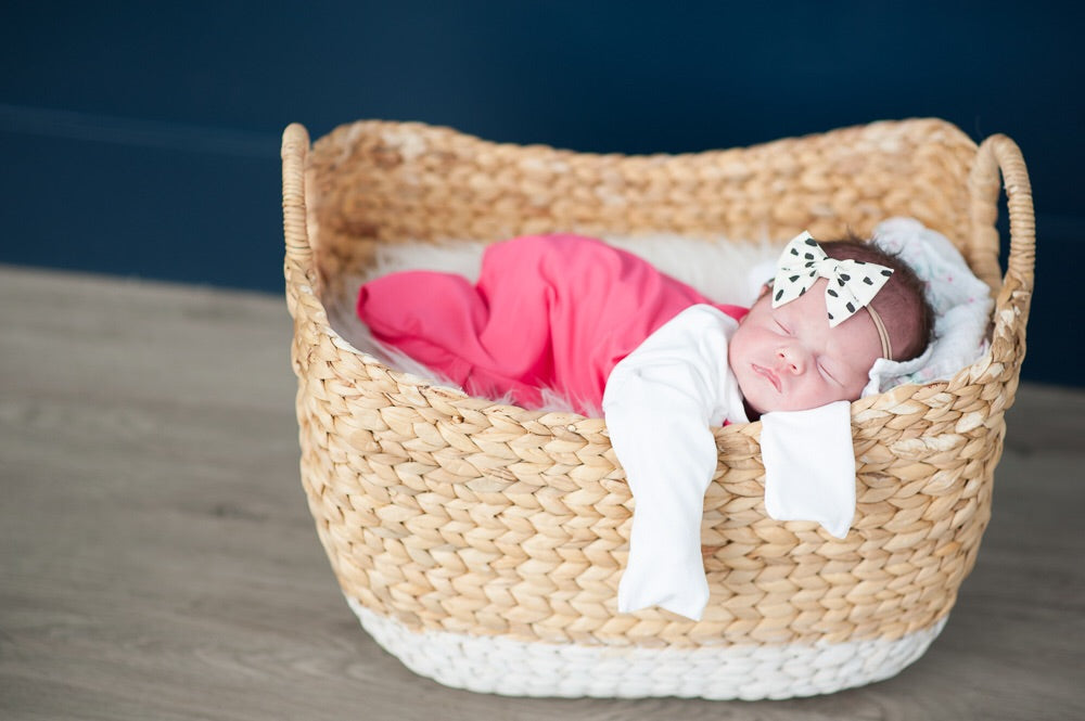 Pocket Sleeper in Hot Pink & White