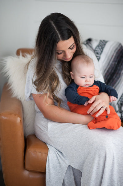 Pocket Sleeper in Orange & Navy
