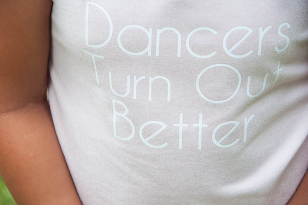 Dancers Turn Out Better, Racer Back  Tank Top in Ballet Pink