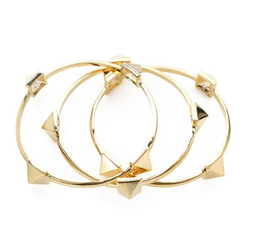 Pyriamid%20bangle%20set%20gold%20plain