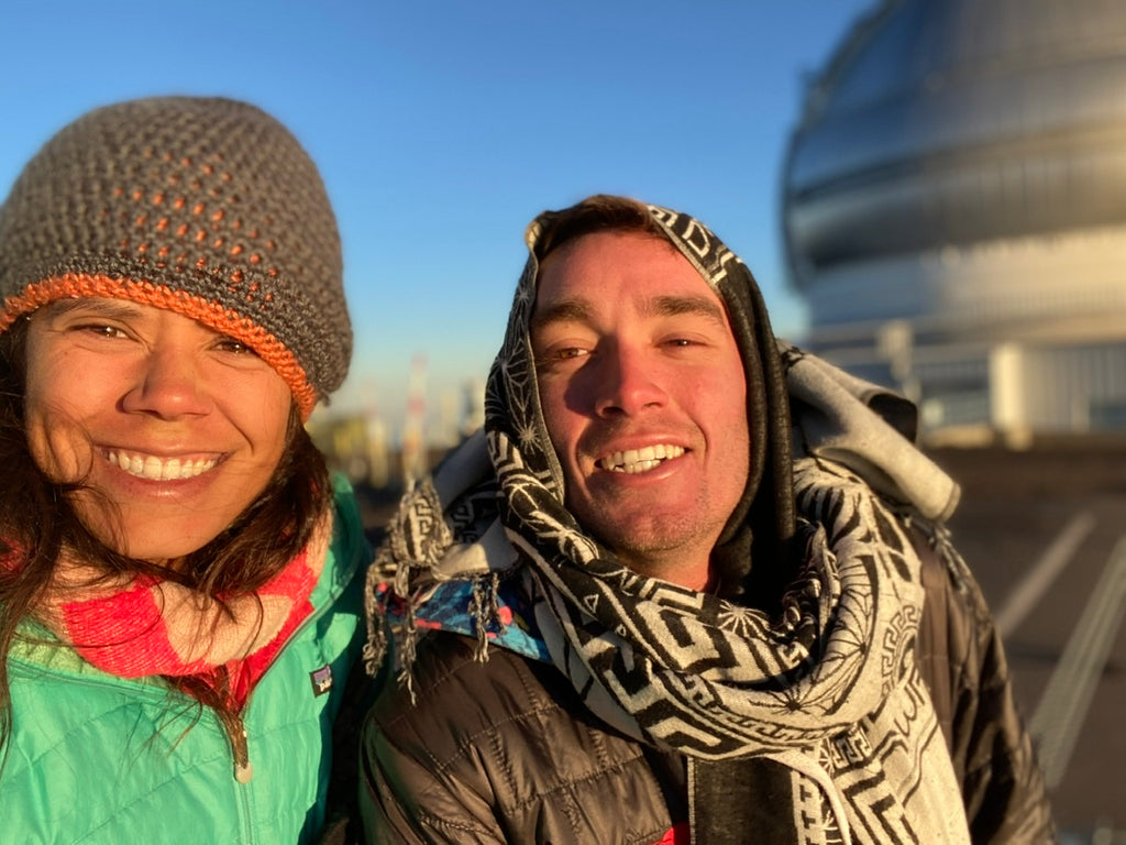 Connor Varney and Christina Henline on Mauna kea