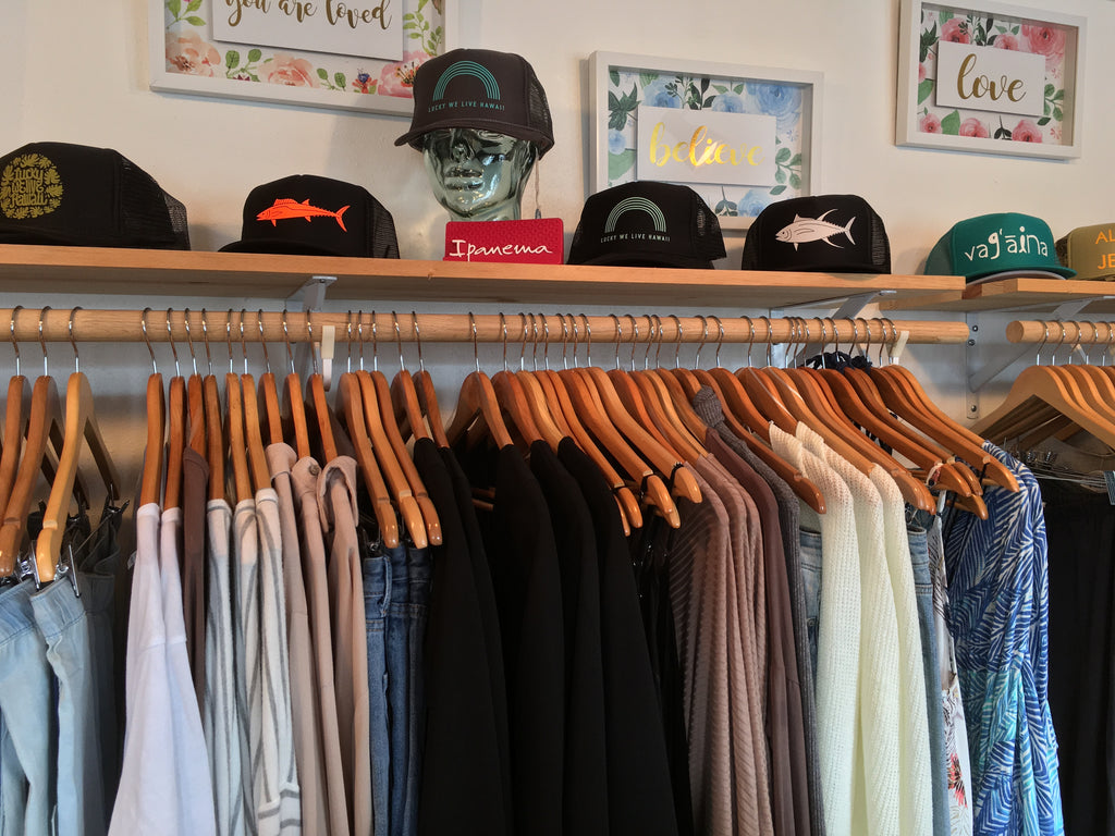 Sun Dot marine trucker hats at KaiElla Boutique