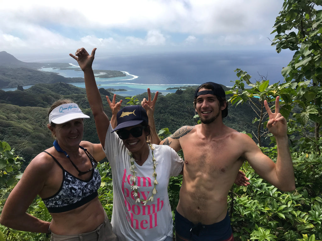 Viv Tina and Nainoa Huahine lookout