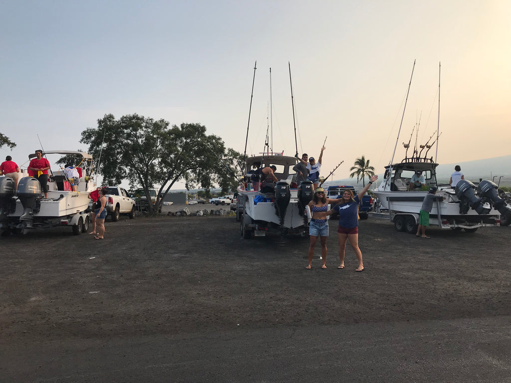 Force boat parking Huggo's Wahine Tournament 2018