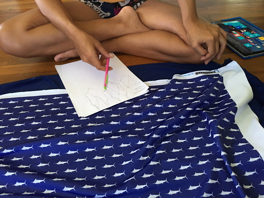 Designing Sundot Swimwear with Cherry Blossom Bottoms Veronica Hill in Hilo Hawaii