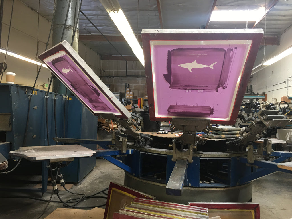 sundot marine flags screen printing made in the usa at face first inc in california