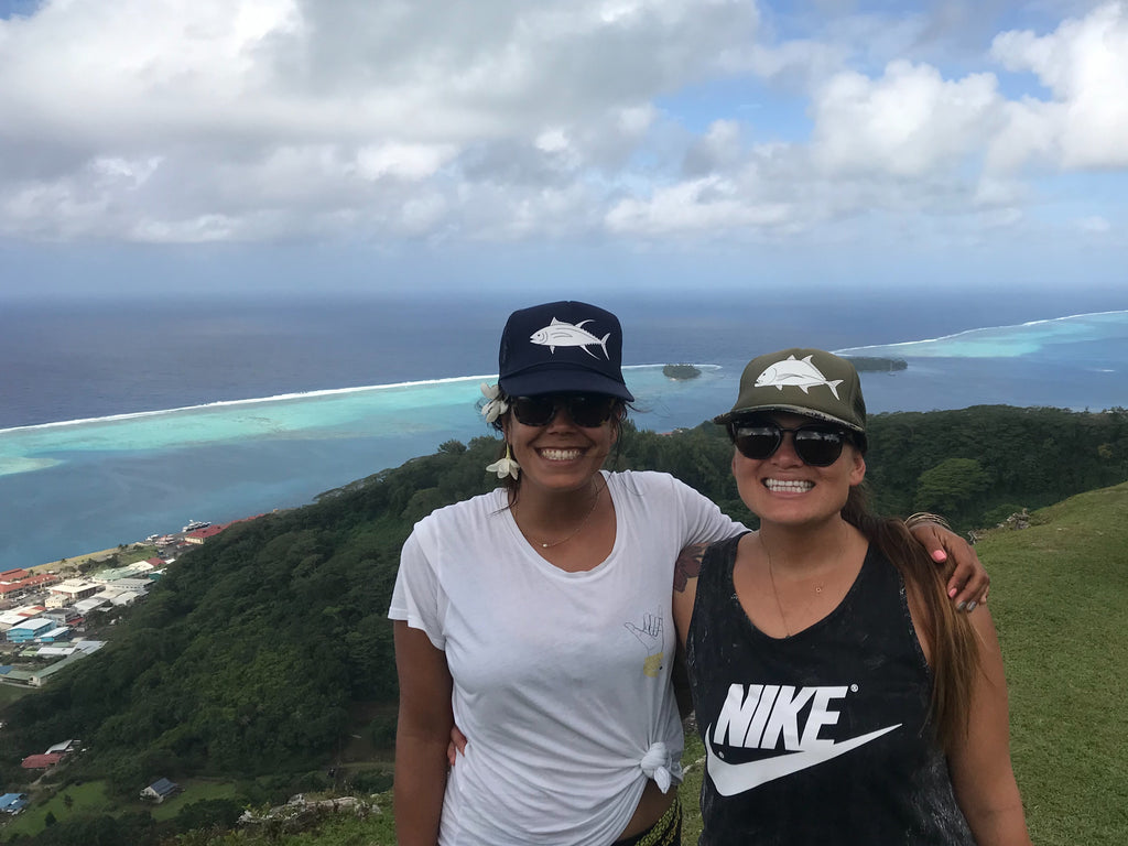 Christa and Tina view from raiatea
