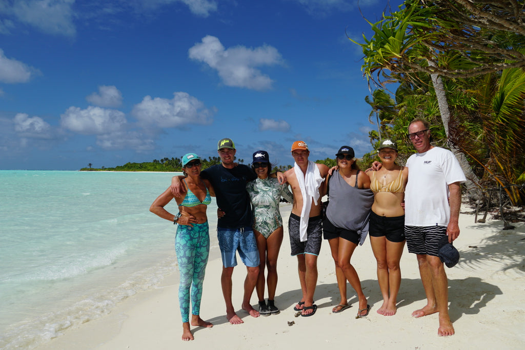 The whole gang on Tetiaroa