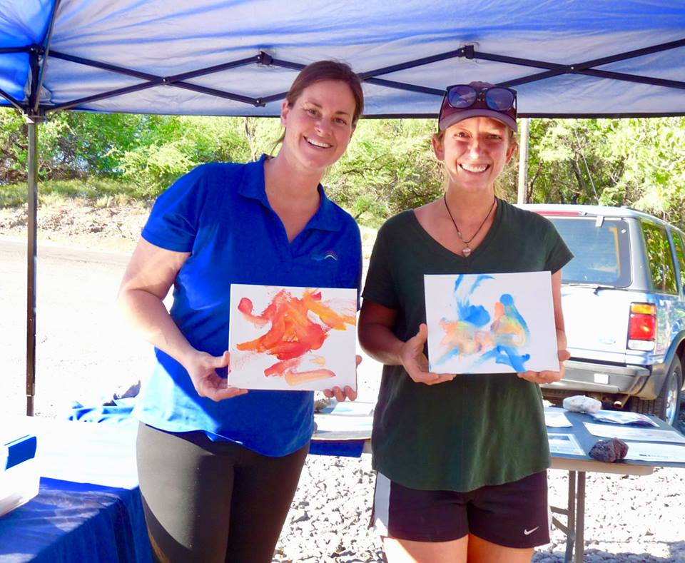 paintings by dolphins from dolphin quest waikoloa