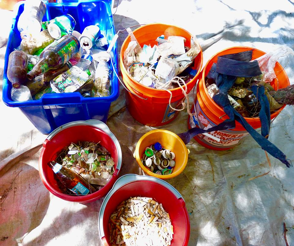 some of the marine debri collected at puako beach cleanup september 15, 2018