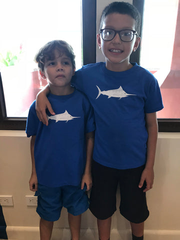 matching sundot blue marlin shirts