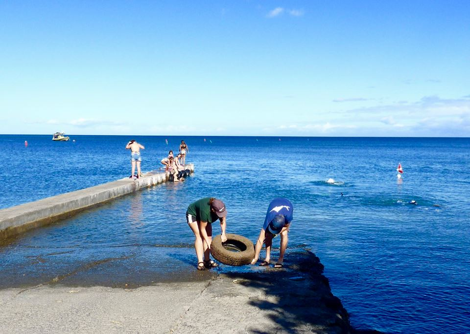 removing tires from puako boat ramp
