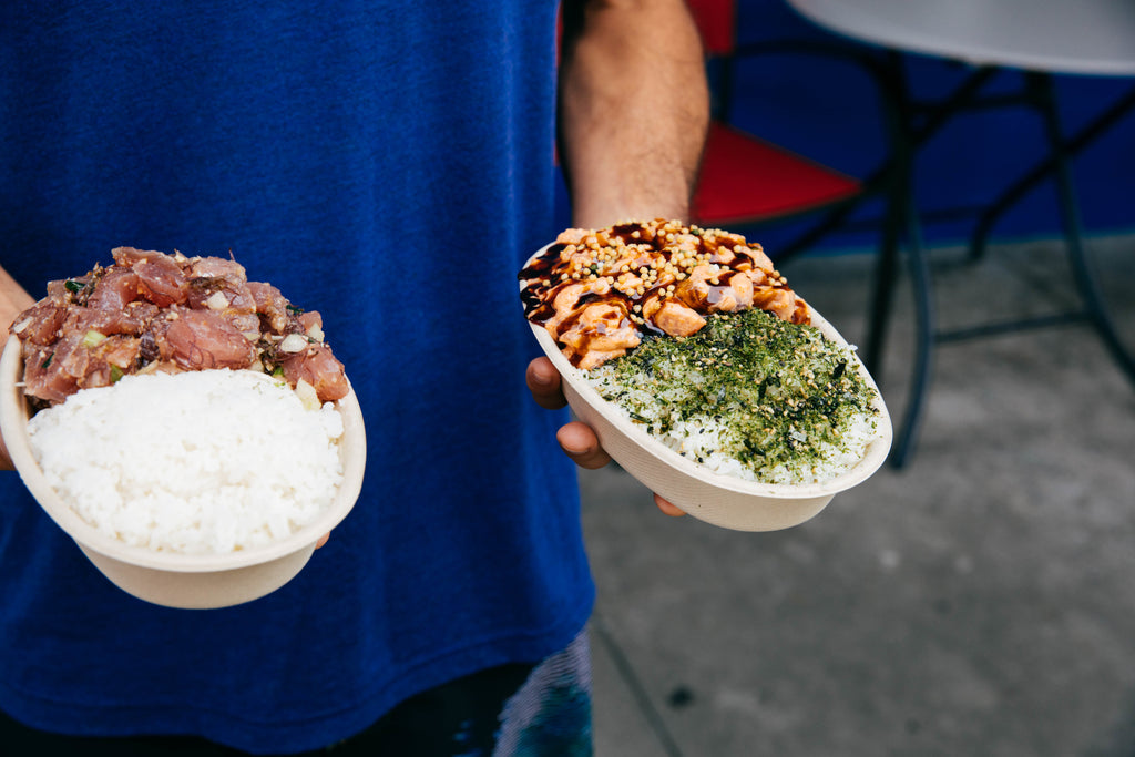 Suisan poke bowls are the best on the Big Island!