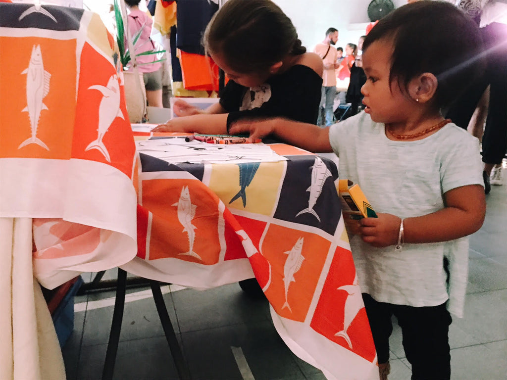 Sundot Marine Flags Kids Coloring Fans