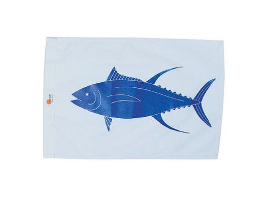 SALE - YELLOWFIN TUNA / AHI SUNDOT MARINE CAPTURE FLAG - 12 x 18
