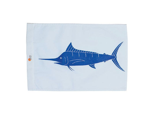 SALE - WHITE MARLIN SUNDOT MARINE CAPTURE FLAG - 12 x 18