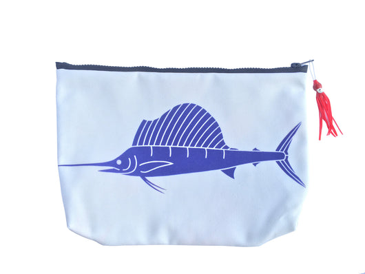 SAILFISH SUNDOT POUCH WITH HAWAIIAN PRINT FABRIC