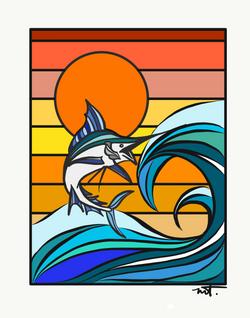 Marlin Sundot Digital 8x10 Print