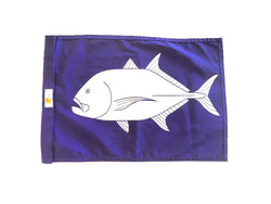 SALE - TREVALLY / ULUA SUNDOT MARINE CAPTURE FLAG - 16 x 24