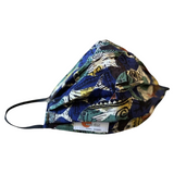 Facemask Pleated Tropical Mix Print