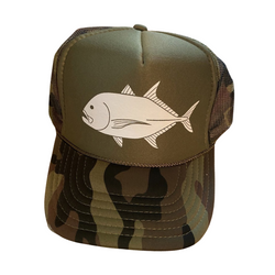 Green Camo Sun Dot Marine Trucker Hat