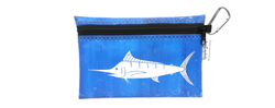 Upcycle Hawaii Blue Marlin Waterproof Pouch