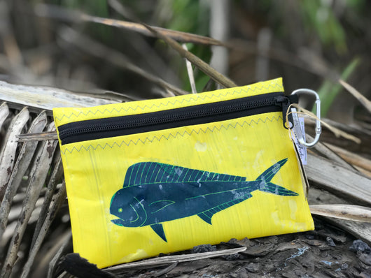 UPCYCLE HAWAII MAHI-MAHI WATER RESISTANT POUCH