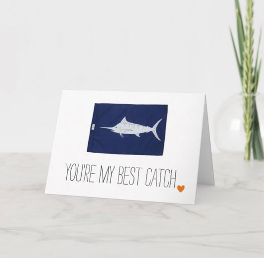Fish Flag Greeting Cards