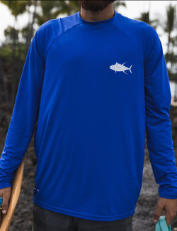 Loose Fit Longsleeve Yellowfin Tuna / Ahi 50 SPF Sun Shirt