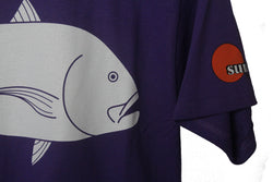 Trevally / Ulua Men's 100% Cotton Tee - Purple