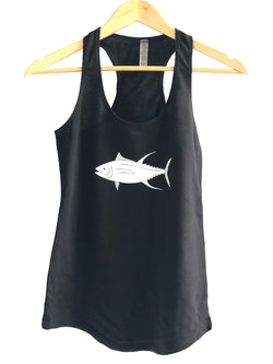 YELLOWFIN TUNA / AHI LADIES RACERBANK TANK TOP