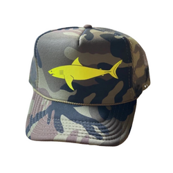 Full Camo Sun Dot Marine Trucker Hat