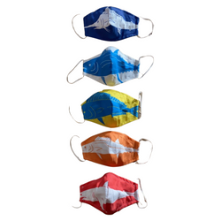 Facemask - NEW Cotton Canvas - Fish Flag Print