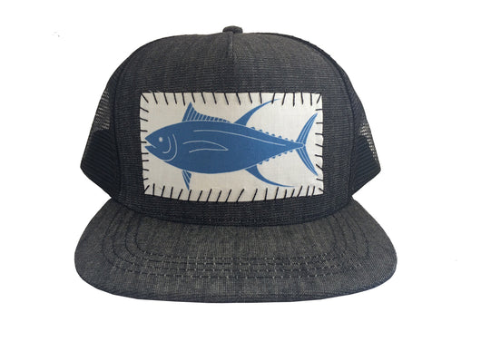 Yellowfin Tuna / Ahi Sundot Marine Hand-Stitched Patch Hat
