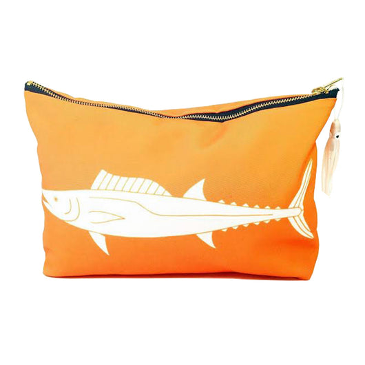 WAHOO / ONO SUNDOT POUCH WITH HAWAIIAN PRINT FABRIC