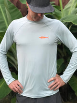MEN'S LOOSE FIT LONG SLEEVE WAHOO / ONO 50 SPF SUN SHIRT