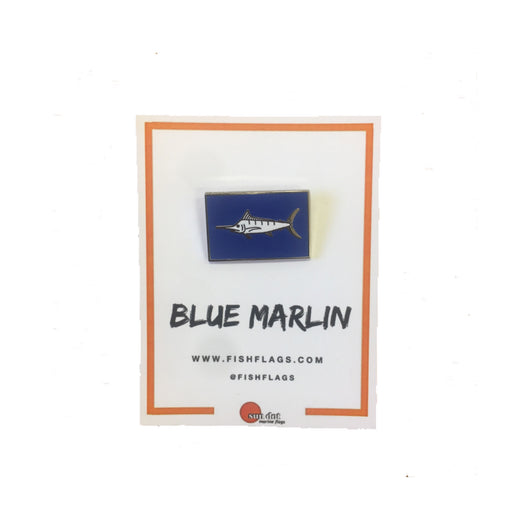 Blue Marlin Capture Flag Lapel Pin