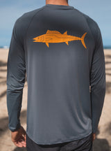 Loose Fit Long Sleeve Dark Grey Wahoo / Ono 50 SPF Sun Shirt