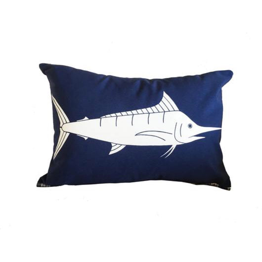 BLUE MARLIN 12X18 INCH PILLOW