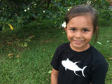 Black Yellowfin Tuna / Ahi Sun Dot Kids T-shirt