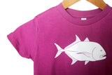 Purple Giant Trevally / Ulua Sun Dot Kids T-shirt