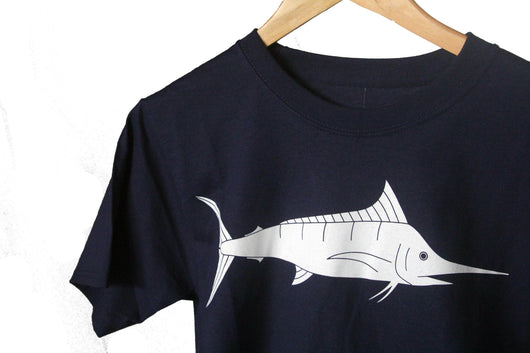 BLUE MARLIN MENS 100% COTTON TEE