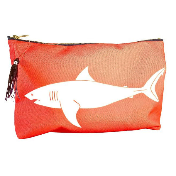 Sundot Marine Flag Shark pouch with Hawaiian print lining and squid lure image