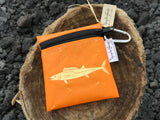 UPCYCLE HAWAII WAHOO / ONO WATER RESISTANT POUCH